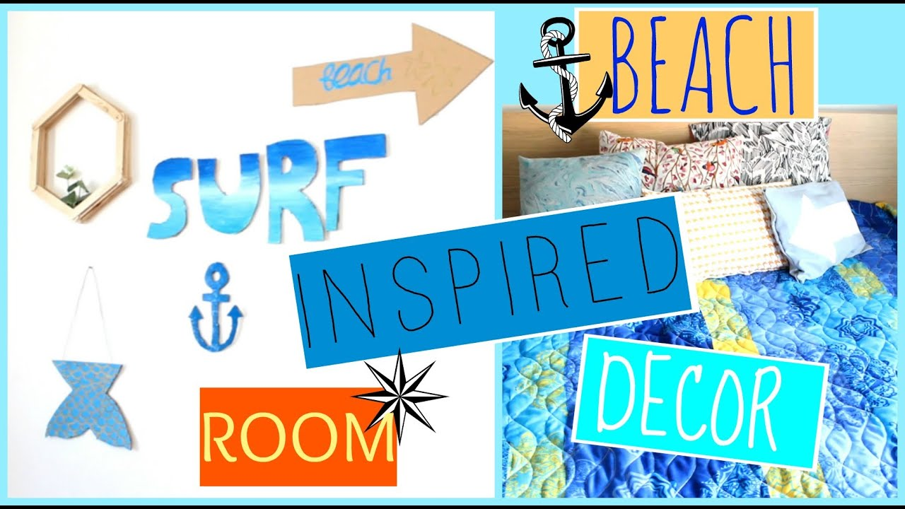 DIY BEACH INSPIRED ROOM DECOR !!! ♡♡♡