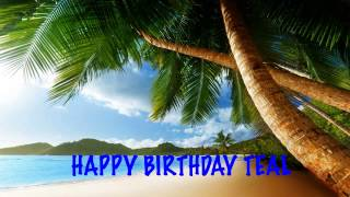 Teal  Beaches Playas - Happy Birthday