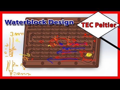 Peltier Waterblock Theory: Different Channel Designs. Episode4