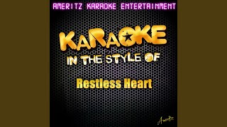 A Tender Lie (In the Style of Restless Heart) (Karaoke Version)