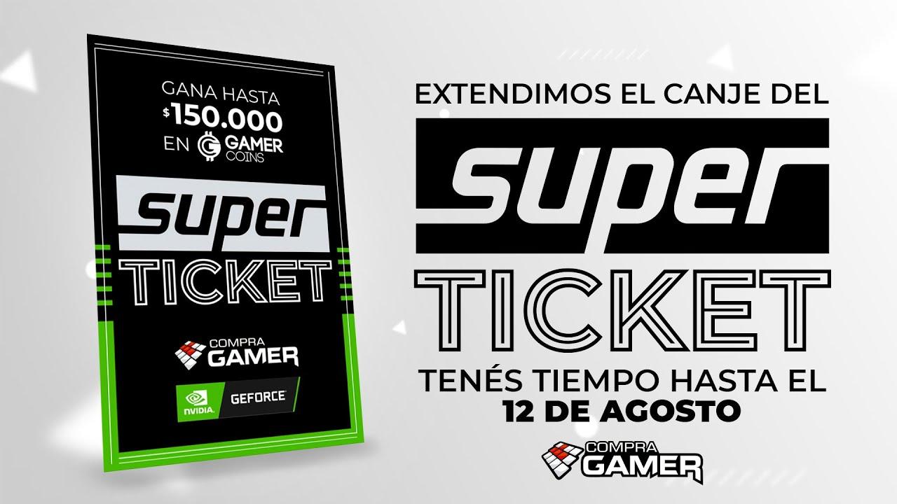 Canjea tu SUPER TICKET y participa por $150.000 en Gamer Coins con #Nvidia GEFORCE –Super Ticket