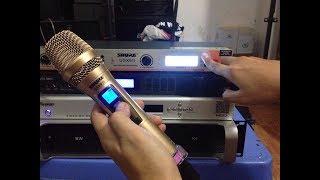 Hướng dẫn Đặt lại tần số Míc hát không dây Shure UGX9 II dễ hiểu