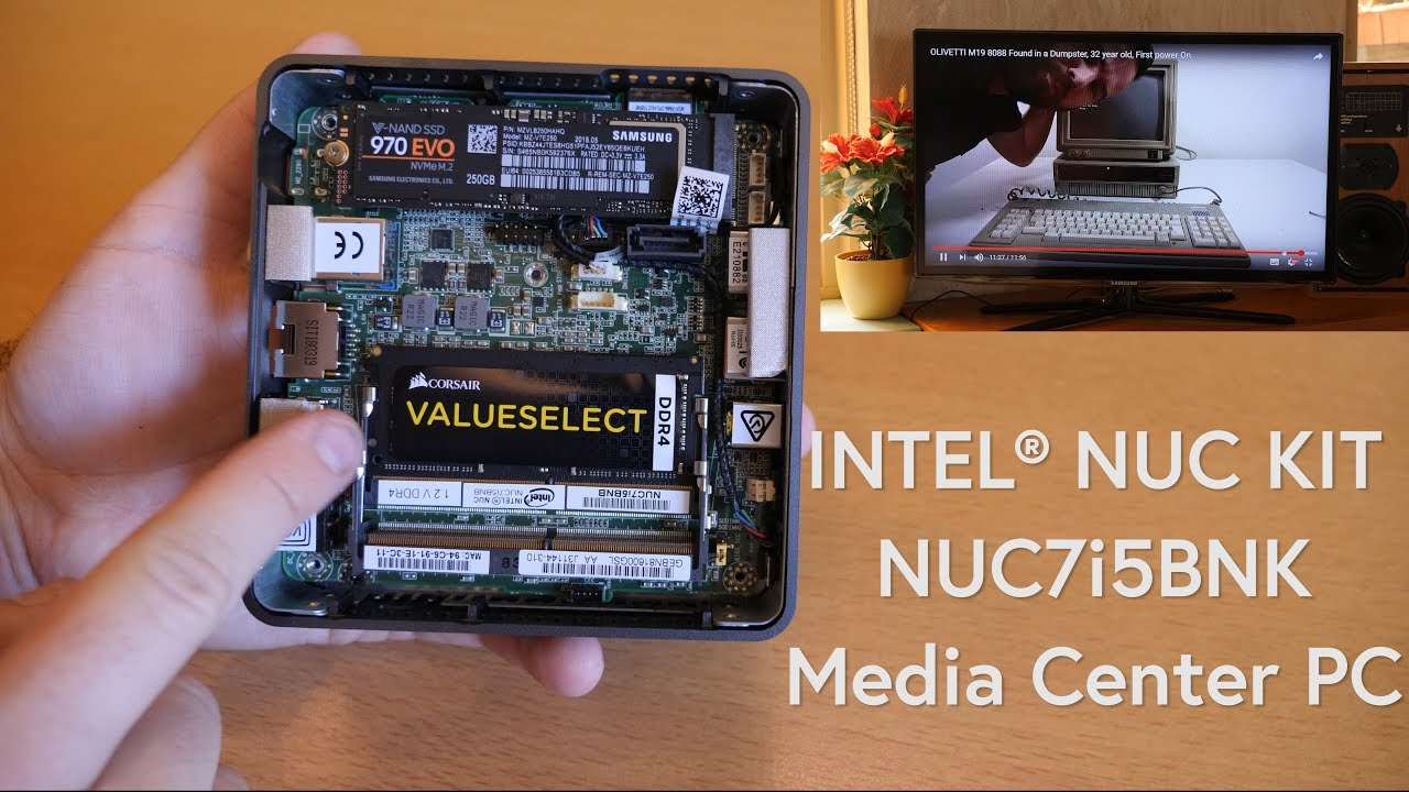 INTEL NUC KIT NUC7i5BNK Assembly as Living Room Media Center