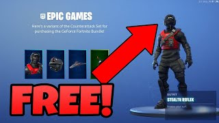"HOW I GOT THE REFLEX PACK FREE FORTNITE ""COUNTER ATTACK BUNDLE"" FREE!"