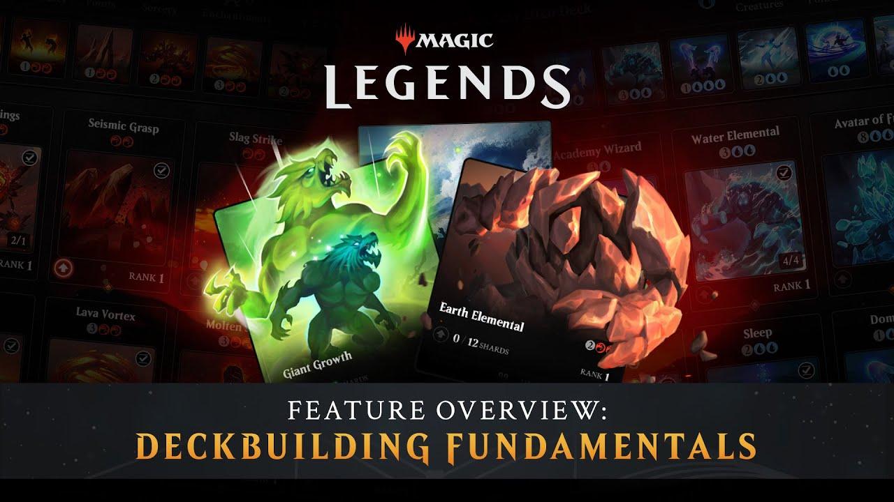 Magic: Legends - Deckbuilding Fundamentals Trailer - Gematsu