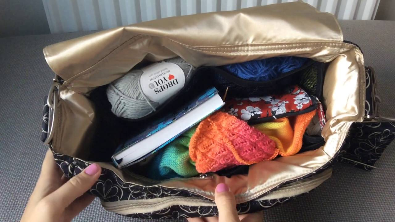 Ju-Ju-Be knitting or crochet craft bag - Liquorice Twirl Better Be BetterBe or Be All BeAll