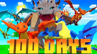 I Survived 100 Days in DRAGONFIRE Minecraft! - Here's What Happened...