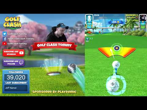 Golf Clash tips, Playthrough, Hole 1-9 - PRO - TOURNAMENT WIND! Tropic Kings Tournament!