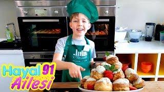 Hayal Ailesi profiterol pastası yapıyor! Eğitici Eğlenceli video