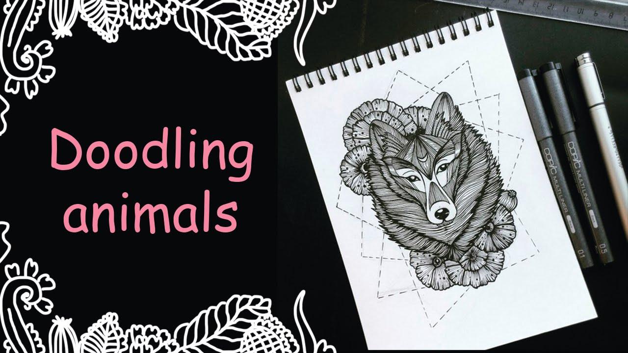 волки рисунки картинки