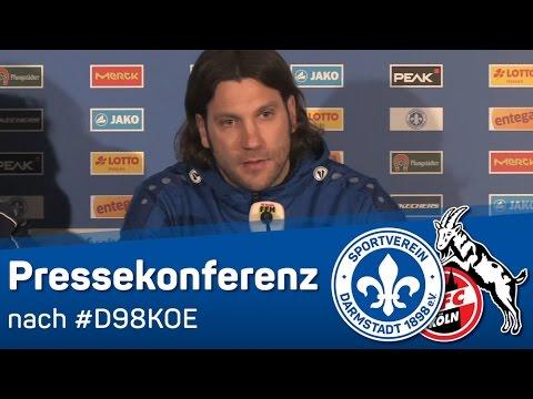 Darmstadt 98   Pressekonferenz nach dem Heimspiel gegen den 1. FC Köln