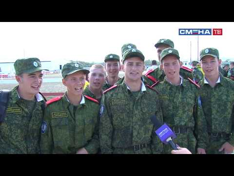 Соревнования по верховой езде на Всероссийской спартакиаде допризывной казачьей молодежи в «Смене»