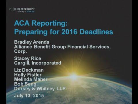 Webinar Playback: ACA Reporting - Preparing for 2016 Deadlines