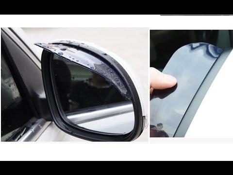 Резиновые козырьки на боковые зеркала автомобиля Chevrolet Cruze