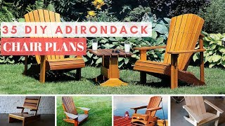 View The Plans ▻▻http://www.mymydiy.com/adirondack-chair-plans We gathered 35 Adirondack chair plans from across the