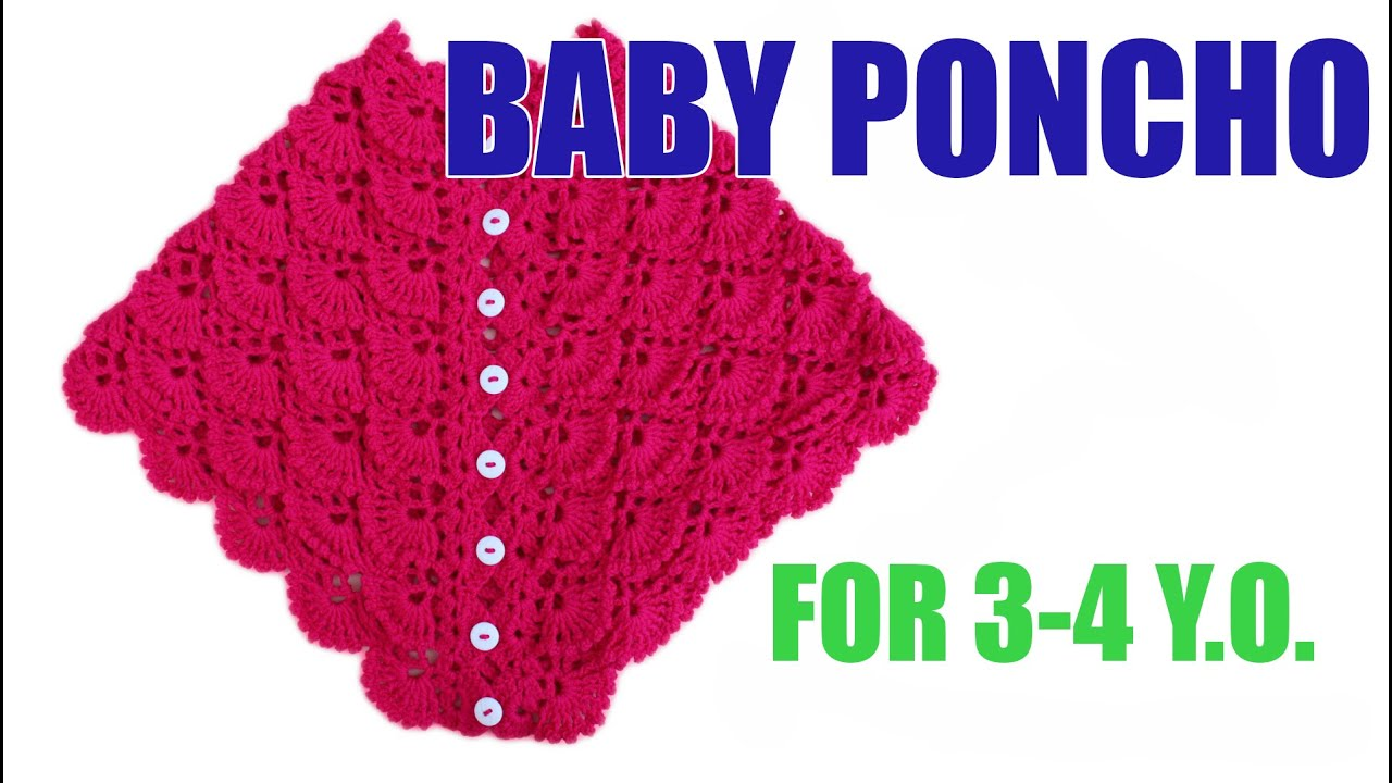 How to crochet baby poncho crochet pattern WWWIKA crochet - YouTube