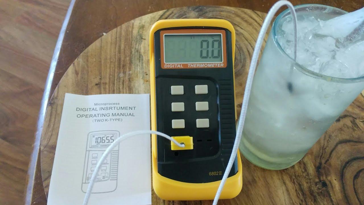 Calibration Test of K-Type eBay Thermocouple. - YouTube