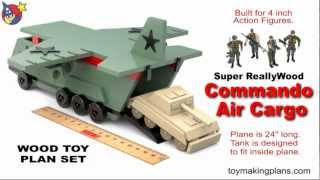 Wood Toy Plans - Big Air Cargo Plane