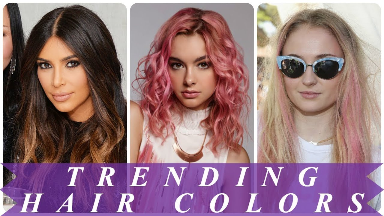 Hot new hair color ideas 2018 for women - YouTube