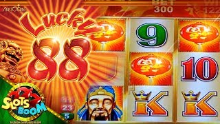 LUCKY 88 BONUS & PROGRESSIVE!!! 1c Aristocrat Slot in San Manuel Casino