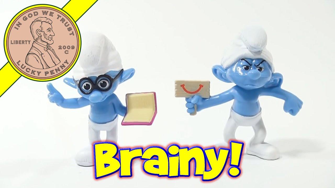 2013 The Smurfs 2 McDonalds Happy Meal Toy Brainy #5