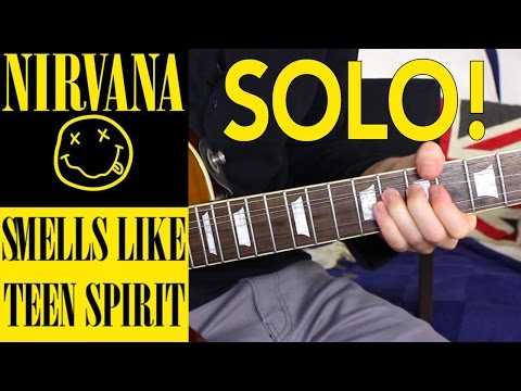Smells Like Teen Spirit EASY LEAD GUITAR SOLO TUTORIAL - How to play
