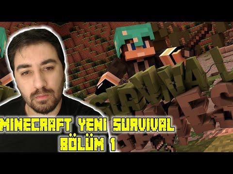 Yeni Bir Başlangıç | Minecraft Yeni Survival #1 | Hayranlarla Canlı Yayın