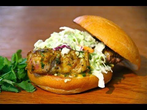 Grilled Pork Loin Burger