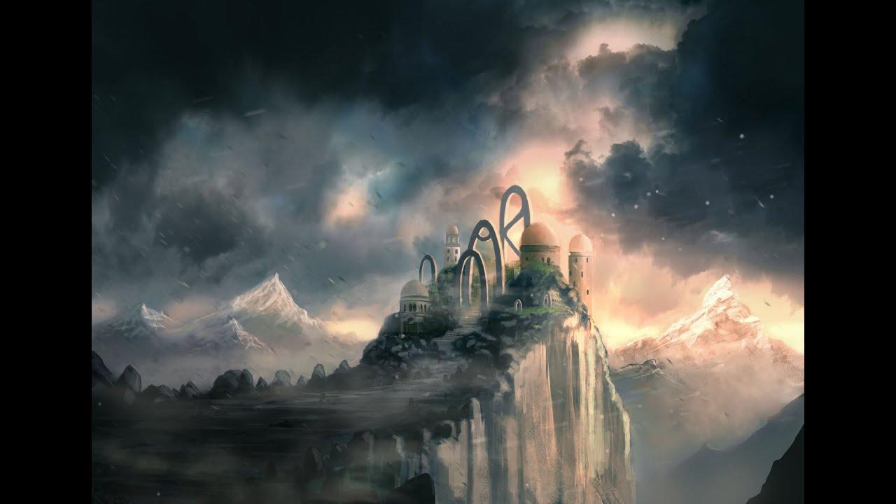 Water Fall Effect Wallpaper Fantasy Landscape Speedpainting Youtube