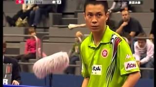 Wang Liqin vs.  Li Jing World Cup Table Tennis 2007