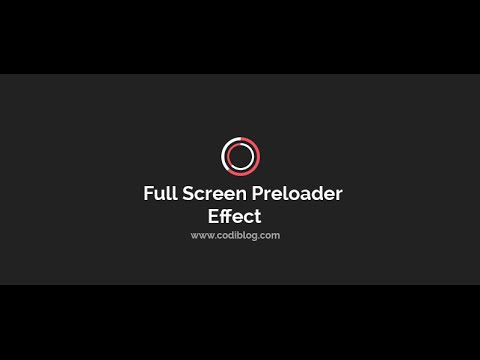 Create Full Screen Page Preloader Effect by jQuery