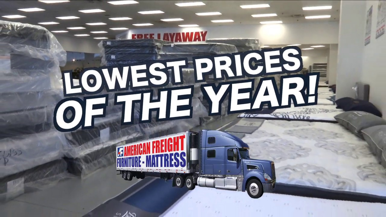 Lowest Mattress Prices Of The Year American Freight Furniture And