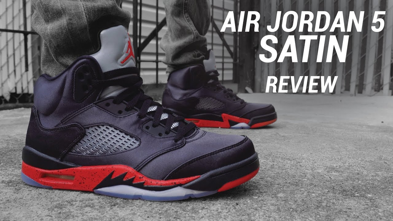 2914fed63fba93 Air Jordan 5 Satin Review   On Feet - YouTube