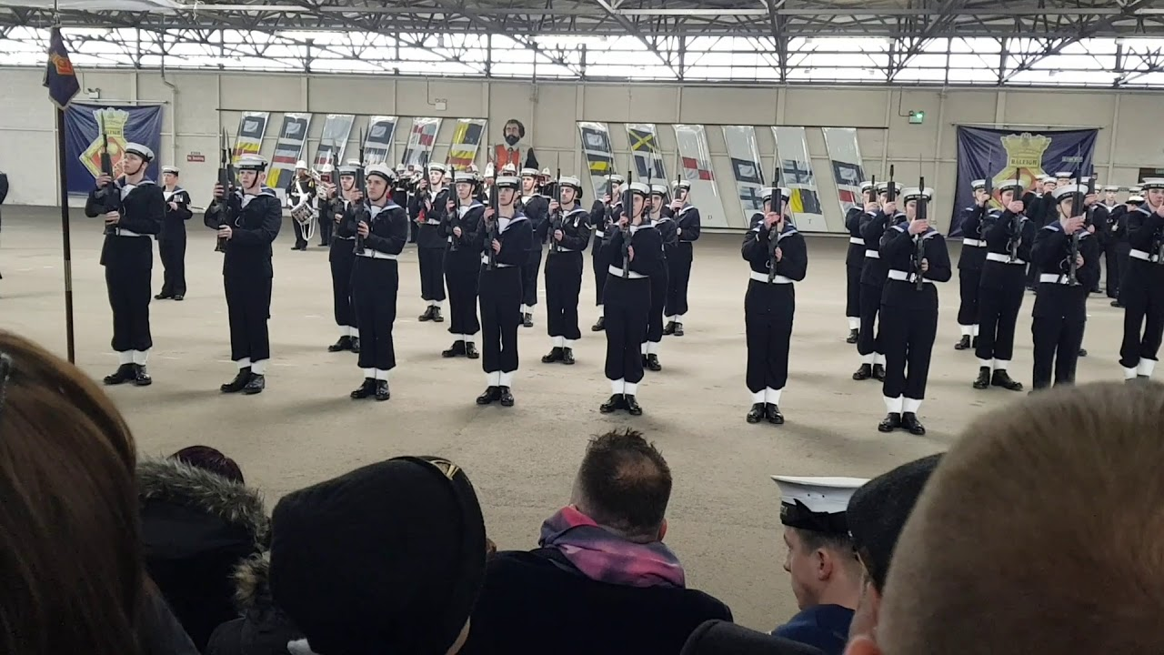 HMS Raleigh Passing Out Parade Arms Drill Cornwell 27