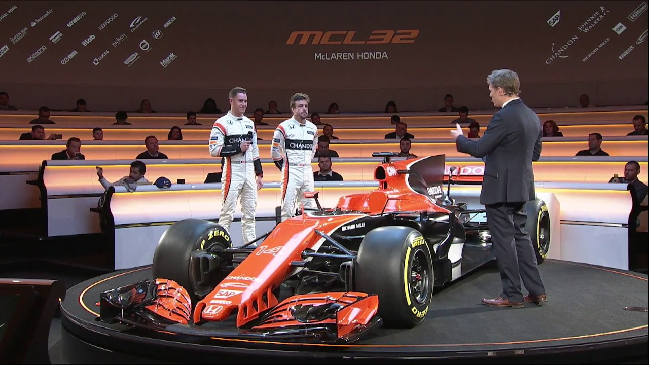 f1 2017 - mclaren mcl32 launch show - youtube