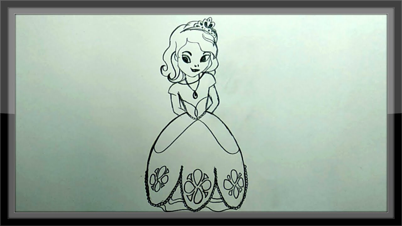 Pencil Drawing - Disney Sofia Drawing For Kids Easy - YouTube