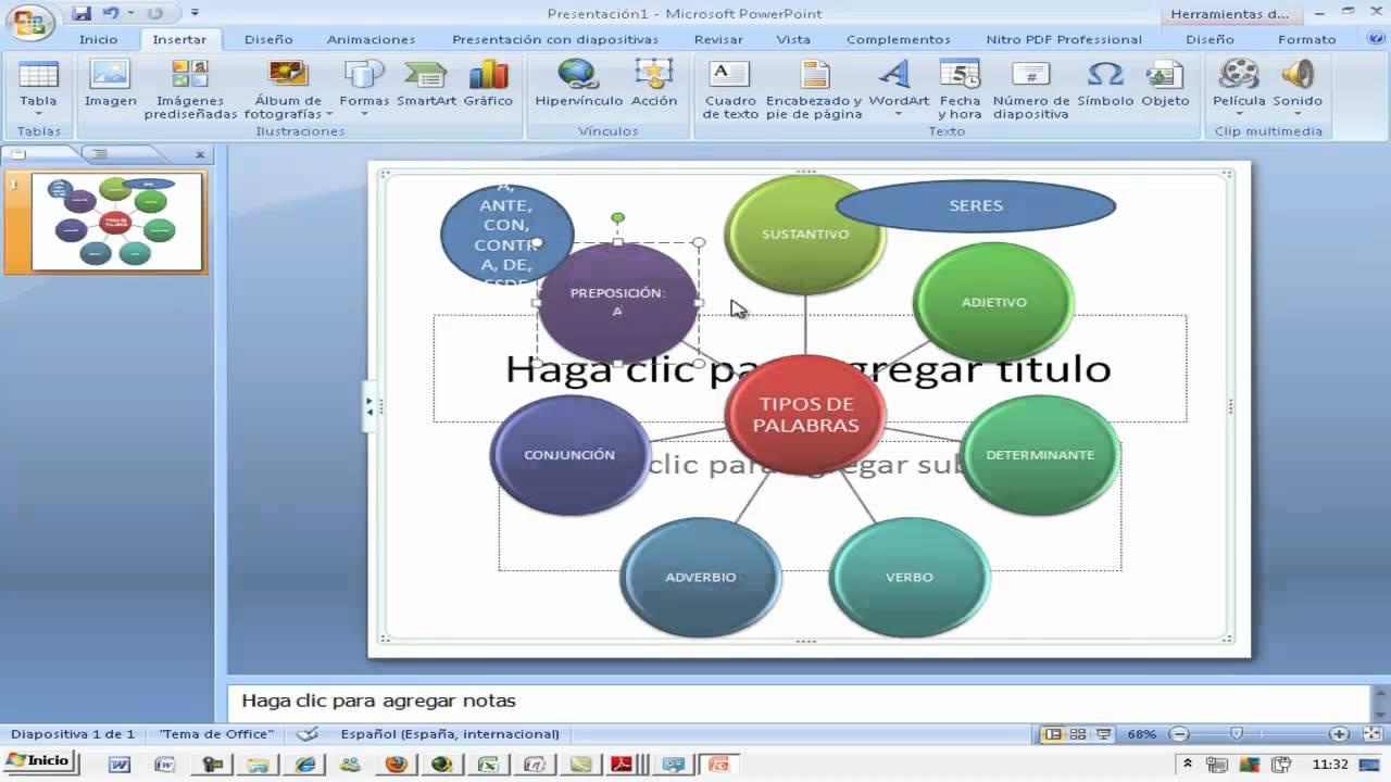 Powerpoint Mapa mental Tipos de palabras Tecnicas de Estudio AINTE ...