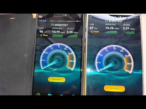 Reliance JIO 4G LTE speed test on 2 phones connected to same tower and antenna