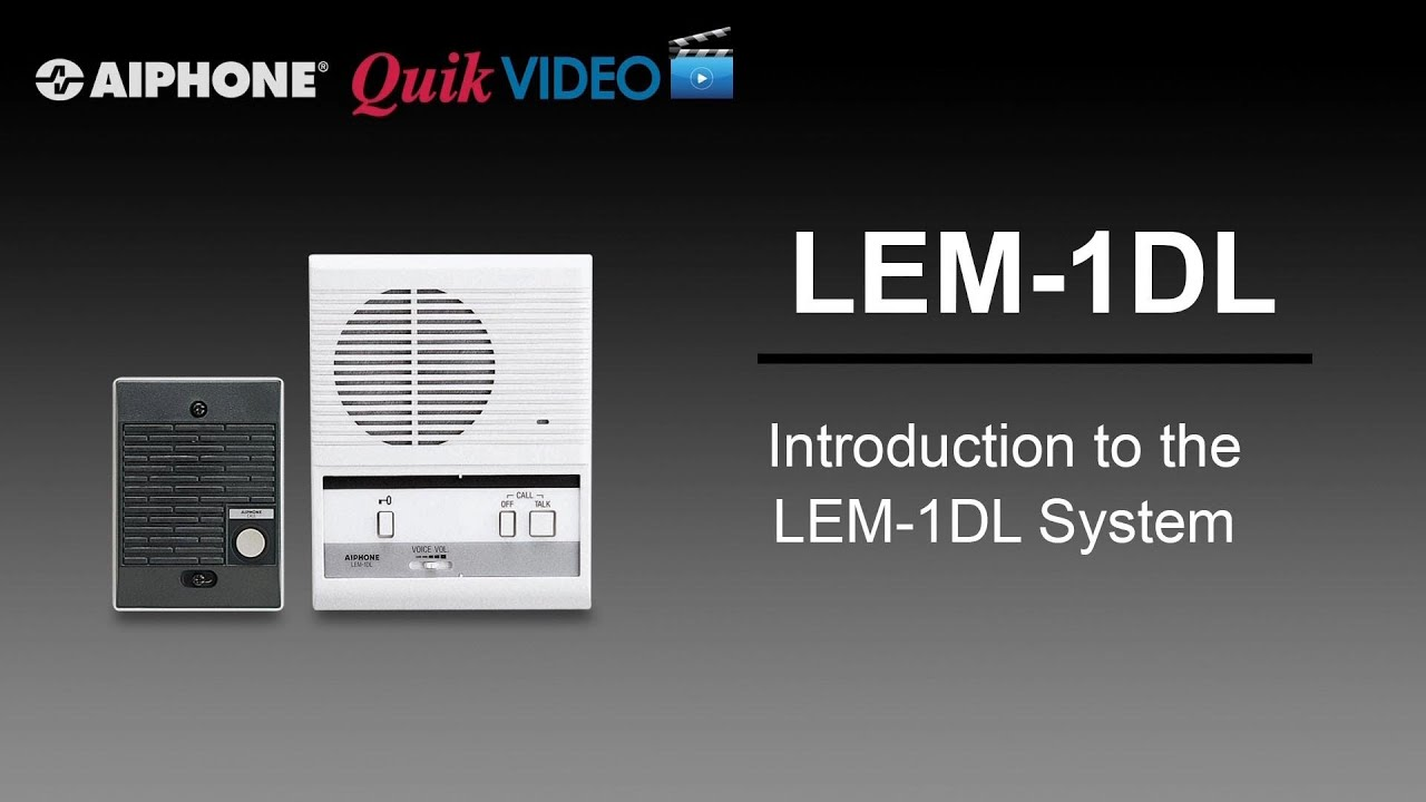 maxresdefault lem 1dl introduction youtube aiphone lem-1 wiring diagram at bayanpartner.co