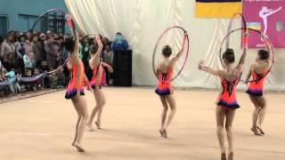 Групповые упражнения (5 обручей) Художественная гимнастика. Первенство ФСО