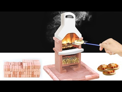 How To Build Wood Fired Mini Pizza Oven From Mini Bricks! DIY Oven Construction