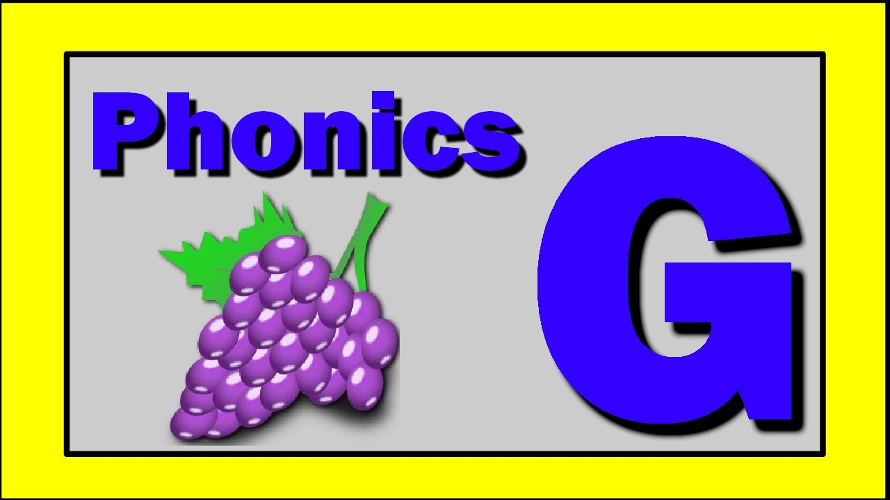 Phonics Words Using Letter G Youtube