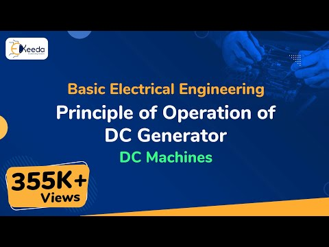 Principle of Operation of DC Generator - DC Machines - Basic Electrical Engineering