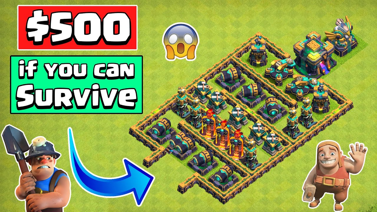 IMPOSSIBLE Town Hall 14 Defense Formation   Clash of Clans