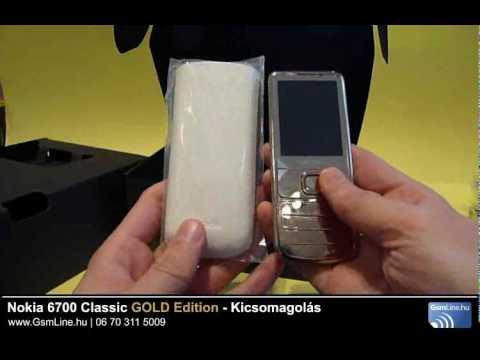 Nokia 6700 classic Gold edition kicsomagolás | www.Gsmline.hu