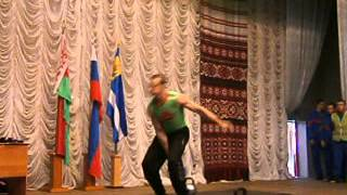 Жонглирование гирями 16,24 и 32кг.Ситников Виталий.