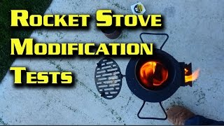 Rocket Stove Modification Tests Before Building Version 4