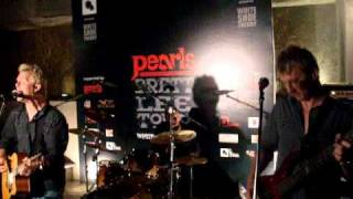 white show theory and brett lee ( band concert in delhi)..