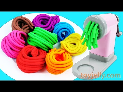 Thumbnail: Learn Colors Play Doh Pasta Spaghetti Maker Machine Microwave Toy Appliance Kinetic Sand Surprises