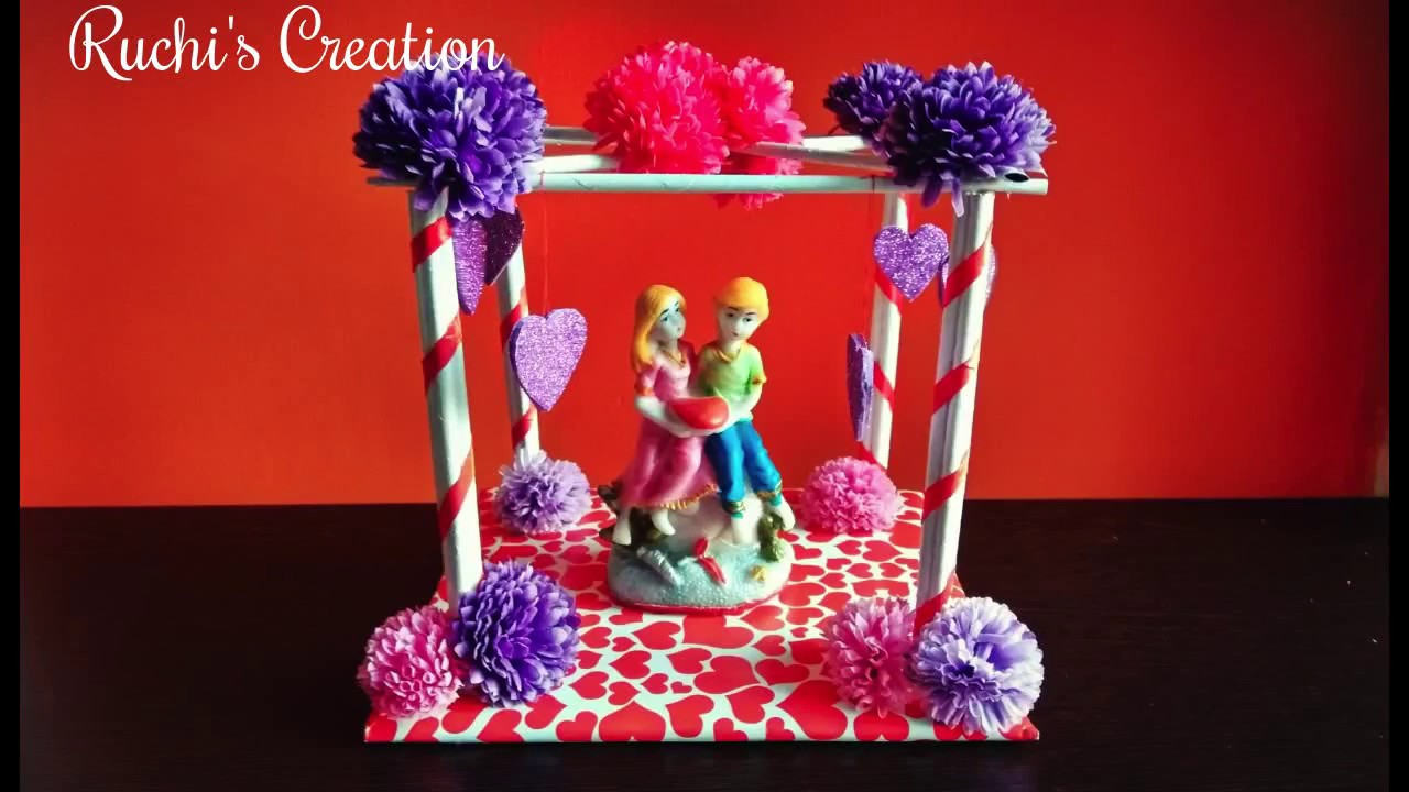DIY | How to make Showpiece at home | Room decoration | Paper craft - YouTube